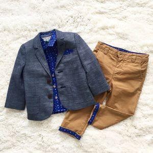 Baker by Ted Baker 3pc set pants blazer shirt